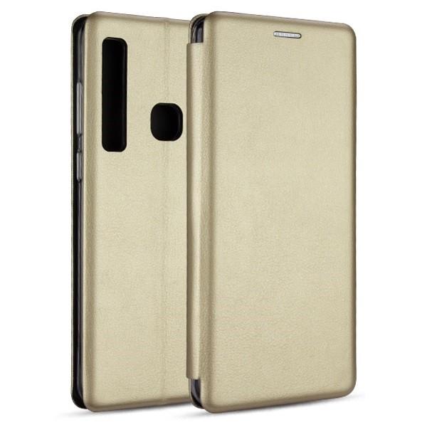 Husa Flip Carte Cu Magnet Lux Upzz Samsung Galaxy A21 ,gold imagine itelmobile.ro 2021