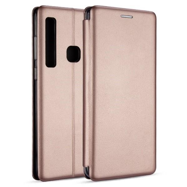 Husa Flip Carte Cu Magnet Lux Upzz Samsung Galaxy A21,rose Gold imagine itelmobile.ro 2021