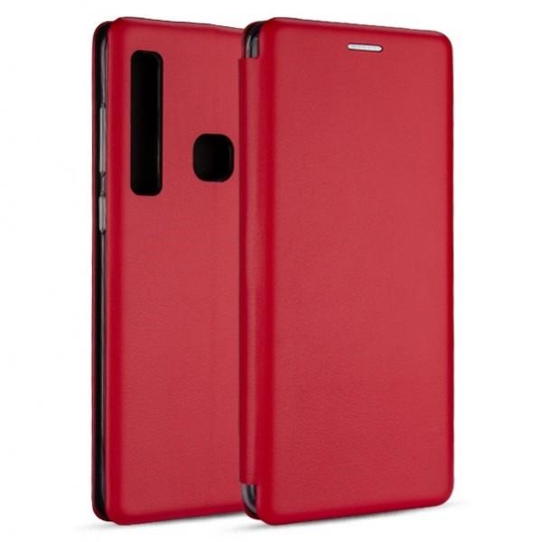 Husa Flip Carte Cu Magnet Lux Upzz Samsung Galaxy A21,rosu imagine itelmobile.ro 2021