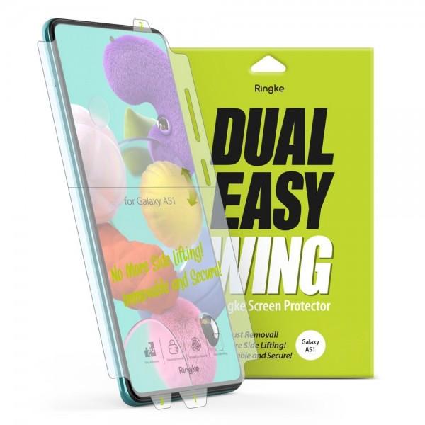 Folie Premium Full Cover Ringke Dual Easy Samsung A51 Transparenta -2 Bucati In Pachet imagine itelmobile.ro 2021