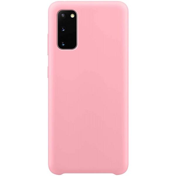Husa Premium Upzz No Logo Soft Silicon Compatibila Cu Samsung Galaxy S20 ,invelis Alcantara La Interior ,roz imagine itelmobile.ro 2021