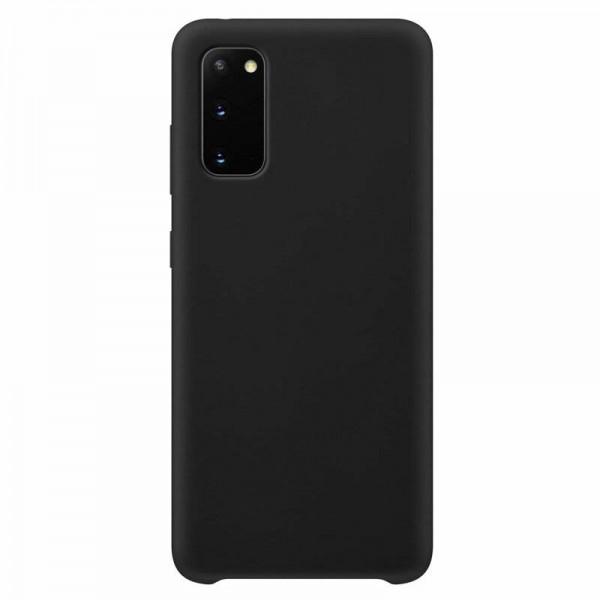 Husa Premium Upzz No Logo Soft Silicon Compatibila Cu Samsung Galaxy S20+ Plus ,invelis Alcantara La Interior ,negru imagine itelmobile.ro 2021