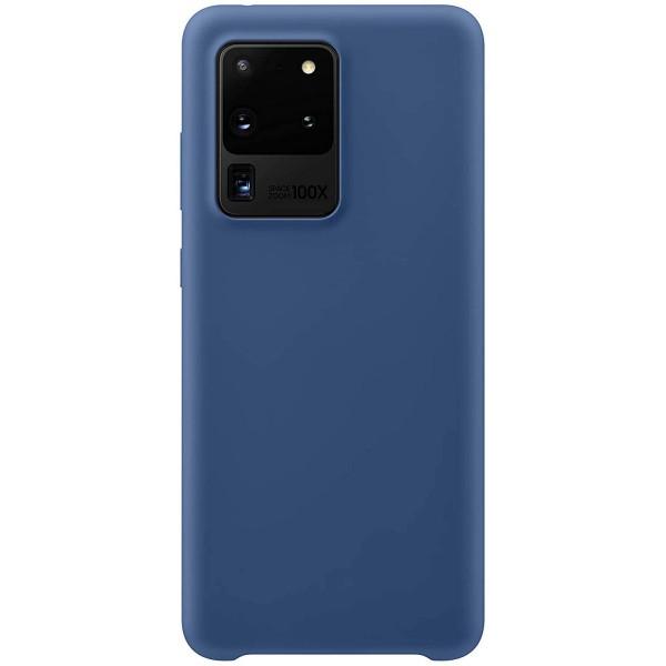 Husa Premium Upzz No Logo Soft Silicon Compatibila Cu Samsung Galaxy S20 Ultra ,invelis Alcantara La Interior ,albastru imagine itelmobile.ro 2021