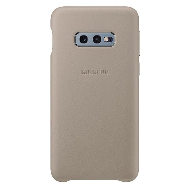 Husa Premium Originala Samsung Leather Pentru Samsung Galaxy S10e Gri imagine itelmobile.ro 2021