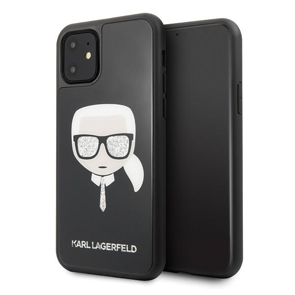 Husa Originala Premium Karl Lagerfeld iPhone 11 Iconic Glitter Karl's Head Tie- Klhcn61dlhbk imagine itelmobile.ro 2021