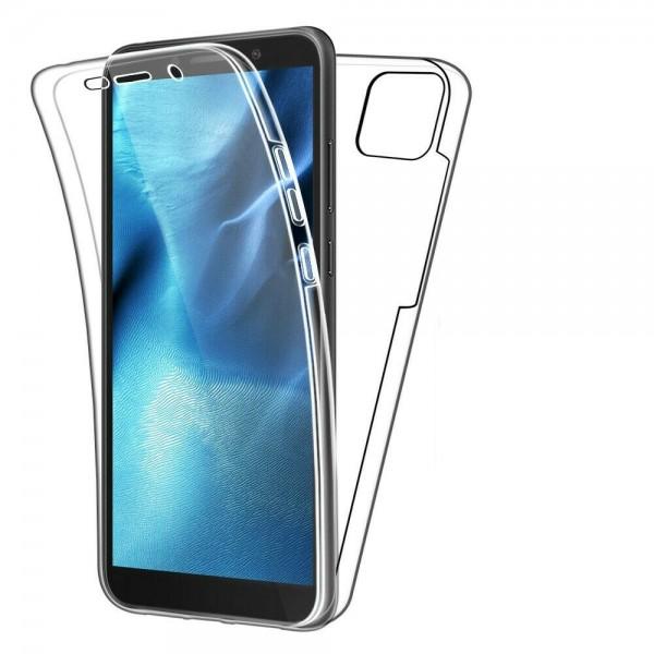 Husa 360 Grade Protectie Completa Upzz Protect Huawei Y5p ,silicon Si Policarbonat ,transparent imagine itelmobile.ro 2021