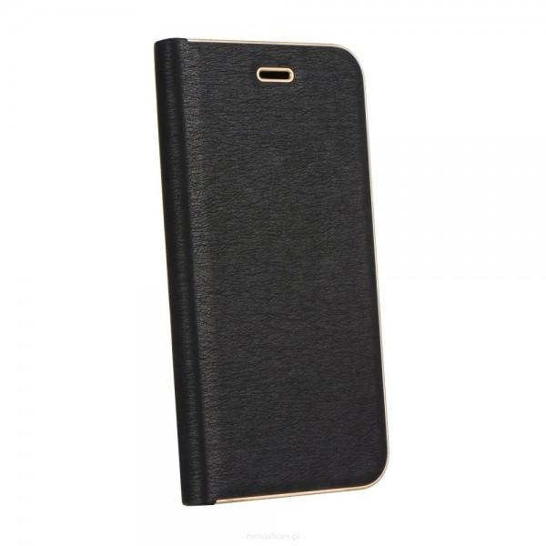 Husa Flip Carte Forcell Luna Book Samsung Galaxy A50 Negru Cu Margine Gold imagine itelmobile.ro 2021