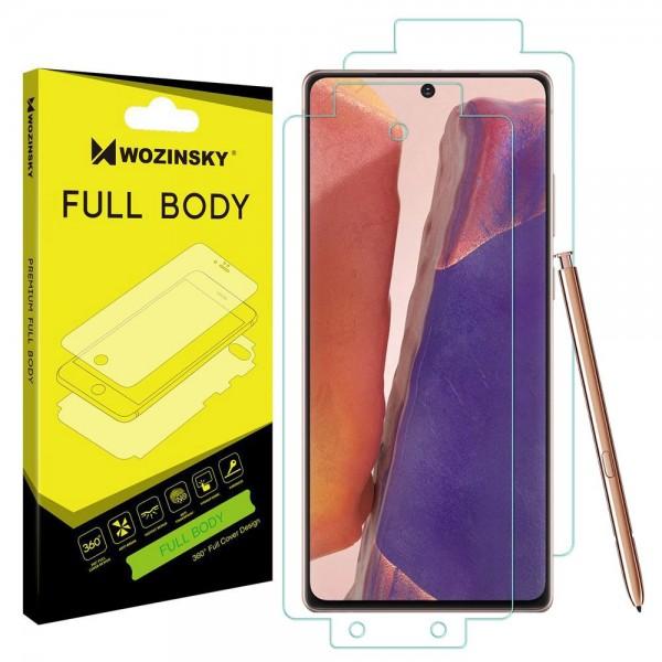 Folie Fata Spate Si Laterale Wozinsky Full Cover Regenerabila Samsung Galaxy Note 20 Transparenta ,silicon imagine itelmobile.ro 2021