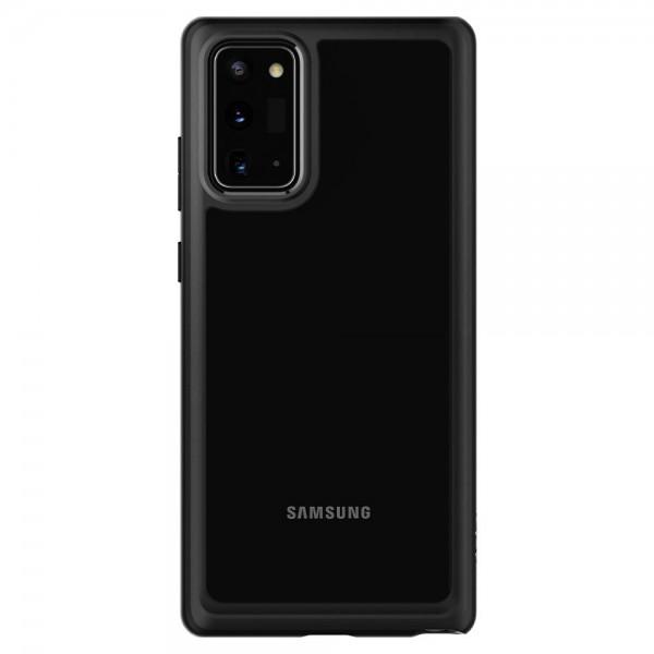 Husa Premium Spigen Ultra Hybrid Samsung Galaxy Note 20, Transparenta Cu Margine Neagra imagine itelmobile.ro 2021