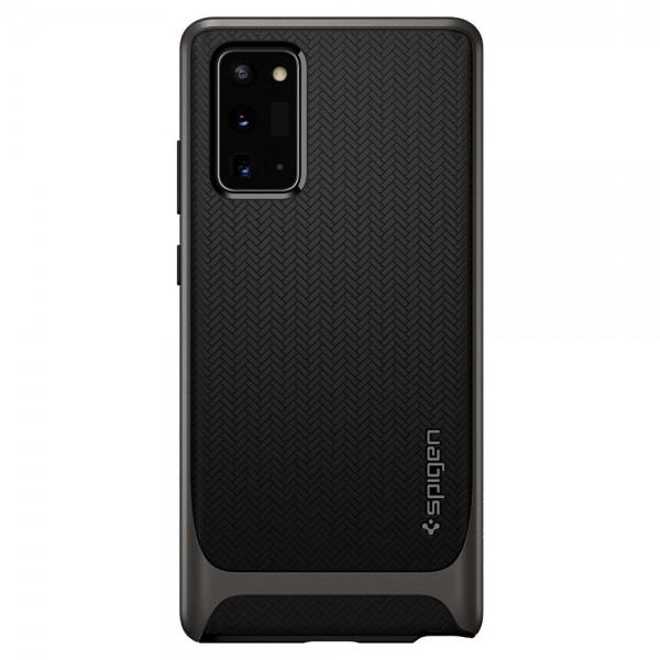 Husa Premium Originala Spigen Neo Hybrid Samsung Note 20, Gunmetal Antishock imagine itelmobile.ro 2021