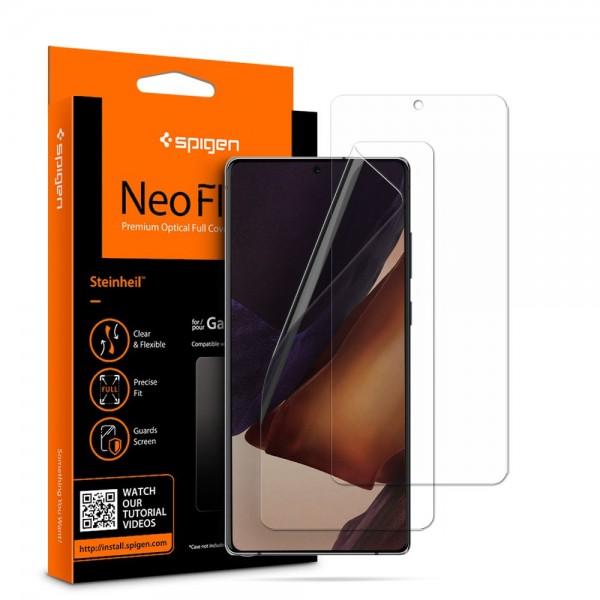 Folie Silicon Premium Neo Flex Spigen Samsung Galaxy Note 20, Transparenta Case Friendly 2 Bucati In Pachet imagine itelmobile.ro 2021