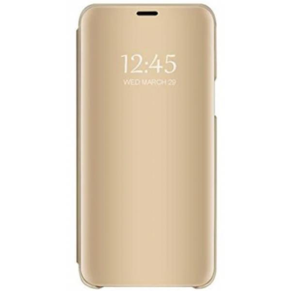 Husa Flip Cover Upzz Mirror Huawei Y5p ,gold imagine itelmobile.ro 2021