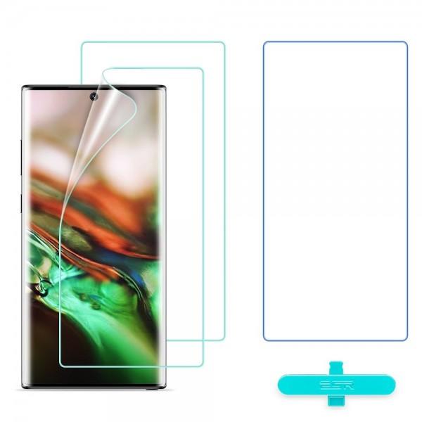 Folie Premium Silicon Liquid Skin Esr Samsung Note 10 ,full Cover -3 Bucati In Pachet imagine itelmobile.ro 2021