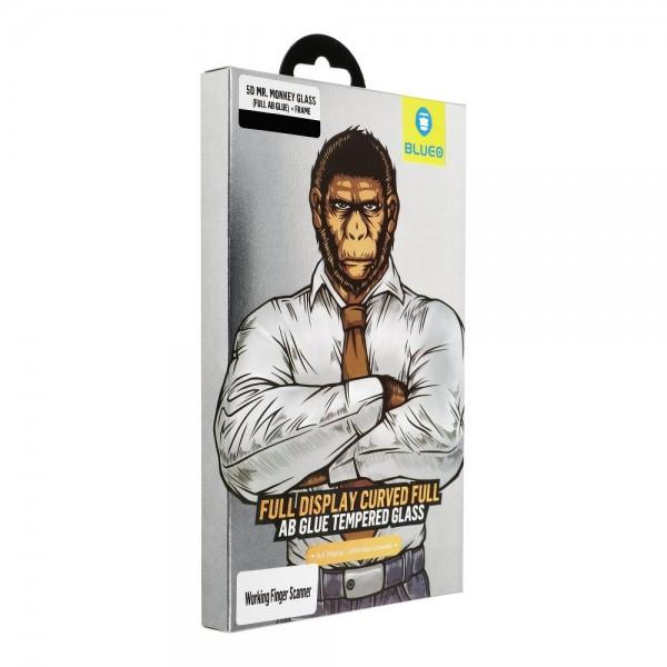 Folie Full Glue Premium Mr. Monkey Full Cover Pentru Samsung Galaxy S10 Plus + Rama Negru imagine itelmobile.ro 2021