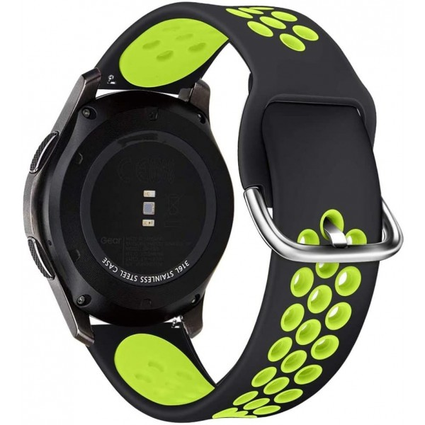 Curea Ceas Upzz Tech Compatibila Cu Samsung Galaxy Watch 3 - 45mm Negru/verde imagine itelmobile.ro 2021