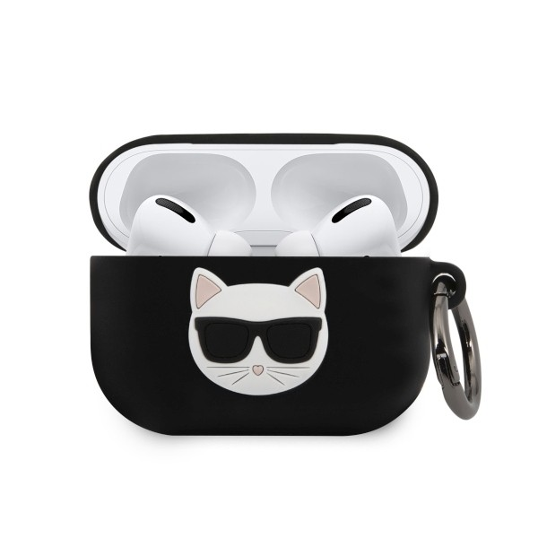Husa Protectie Originala Karl Lagerfeld Pentru Airpods Pro Negru, Colectia Choupette -klacapsilchbk imagine itelmobile.ro 2021