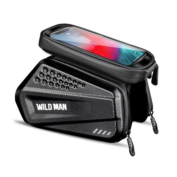 Geanta Bicicleta Impermeabila Pentru Cadru Marime Xxl - Wildman Hardpouch Black imagine itelmobile.ro 2021
