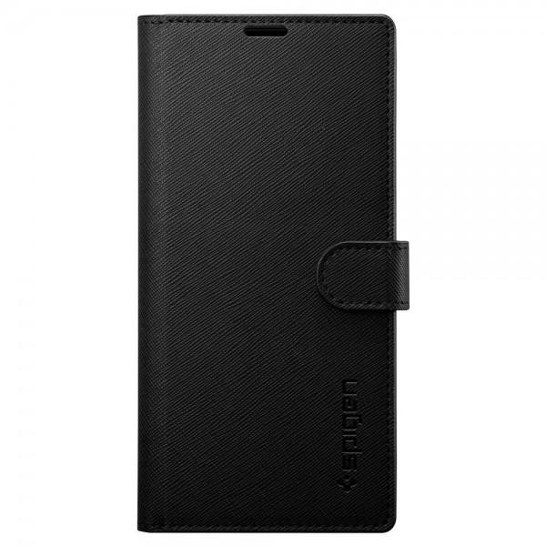 Husa Originala Spigen Wallet S Tip Carte Samsung Galaxy Note 10, Negru imagine itelmobile.ro 2021