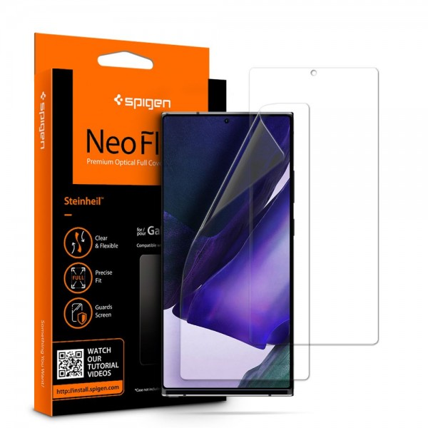 Folie Silicon Premium Neo Flex Spigen Samsung Galaxy Note 20 Ultra,transparenta Case Friendly 2 Bucati In Pachet imagine itelmobile.ro 2021