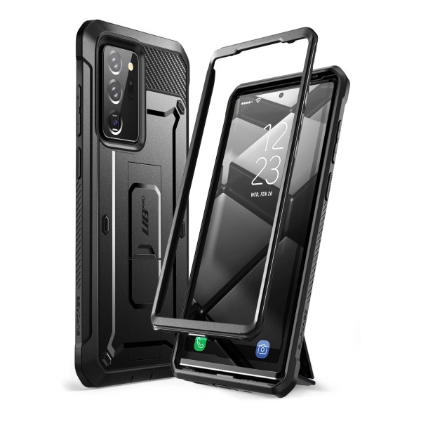 Husa Premium 360 Grade Supcase Samsung Galaxy Note 20 Ultra Unicorn Beetle Pro Negru imagine itelmobile.ro 2021