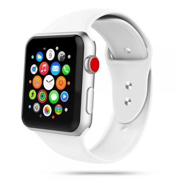 Curea Smooth Band Upzz Tech Protect ,compatibila Cu Apple Watch 1/2/3/4/5 (42/44mm), Alb imagine itelmobile.ro 2021