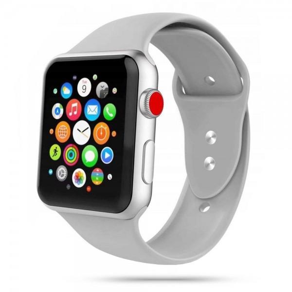 Curea Smooth Band Upzz Tech Protect ,compatibila Cu Apple Watch 1/2/3/4/5 (42/44mm), Gri imagine itelmobile.ro 2021