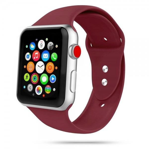 Curea Smooth Band Upzz Tech Protect ,compatibila Cu Apple Watch 1/2/3/4/5 (42/44mm), Bordo imagine itelmobile.ro 2021