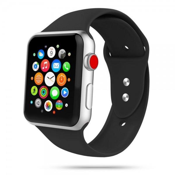 Curea Smooth Band Upzz Tech Protect ,compatibila Cu Apple Watch 1/2/3/4/5 (42/44mm),negru imagine itelmobile.ro 2021