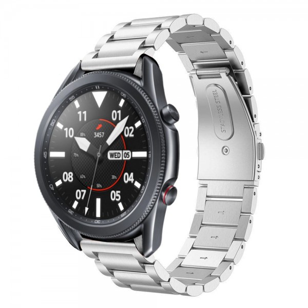 Curea Ceas Upzz Tech Stainless Compatibila Cu Samsung Galaxy Watch 3, 41mm , Silver imagine itelmobile.ro 2021