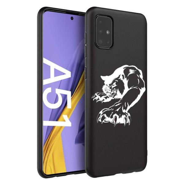Husa Silicon Soft Upzz Print Candy Comaptibila Cu Samsung Galaxy A51, Model Puma Negru imagine itelmobile.ro 2021
