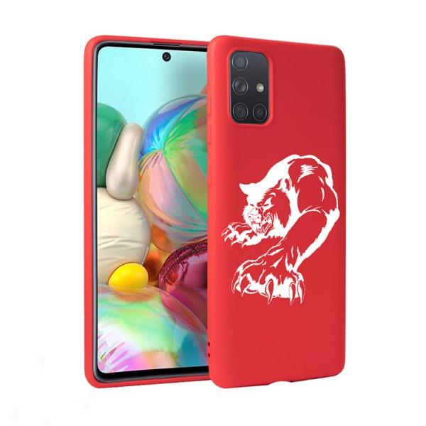Husa Silicon Soft Upzz Print Candy Compatibila Cu Samsung Galaxy A51, Model Puma Rosu imagine itelmobile.ro 2021