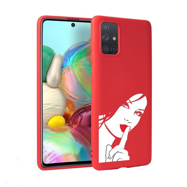 Husa Silicon Soft Upzz Print Candy Compatibila Cu Samsung Galaxy A51, Model Red Lips Blue Eyes Rosu imagine itelmobile.ro 2021