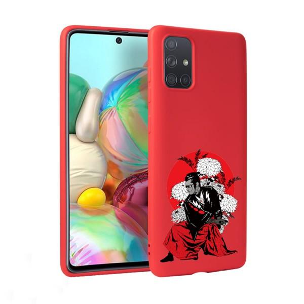 Husa Silicon Soft Upzz Print Candy Compatibila Cu Samsung Galaxy A51, Model Samurai Rosu imagine itelmobile.ro 2021