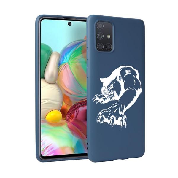 Husa Silicon Soft Upzz Print Candy Compatibila Cu Samsung Galaxy A51, Model Puma Albastru imagine itelmobile.ro 2021