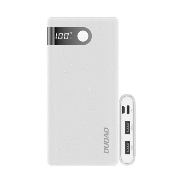 Baterie Externa Dudao 15.000mah 2x Usb / Usb Typ C / Micro Usb 2 A ,display Afisare ,alba -k9pro-03 imagine itelmobile.ro 2021