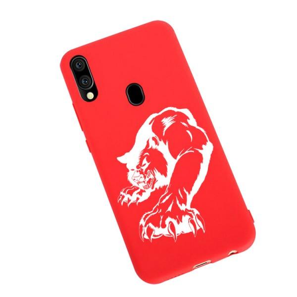 Husa Silicon Soft Upzz Print Candy Compatibila Cu Samsung Galaxy A20e, Model Puma Rosu imagine itelmobile.ro 2021