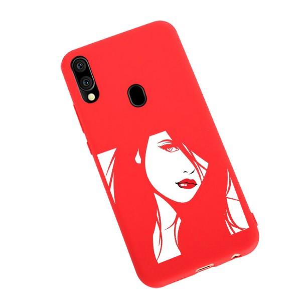 Husa Silicon Soft Upzz Print Candy Compatibila Cu Samsung Galaxy A20e, Model Red Lips Rosu imagine itelmobile.ro 2021