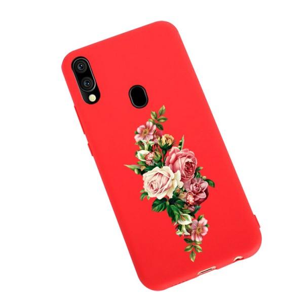 Husa Silicon Soft Upzz Print Candy Compatibila Cu Samsung Galaxy A20e, Model Roses Rosu imagine itelmobile.ro 2021