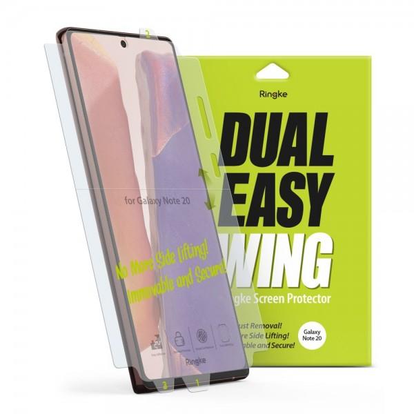 Folie Premium Full Cover Ringke Dual Easy Samsung Galaxy Note 20 ,transparenta -2 Bucati In Pachet imagine itelmobile.ro 2021