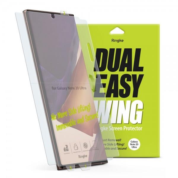 Folie Premium Full Cover Ringke Dual Easy Samsung Galaxy Note 20 Ultra ,transparenta -2 Bucati In Pachet imagine itelmobile.ro 2021