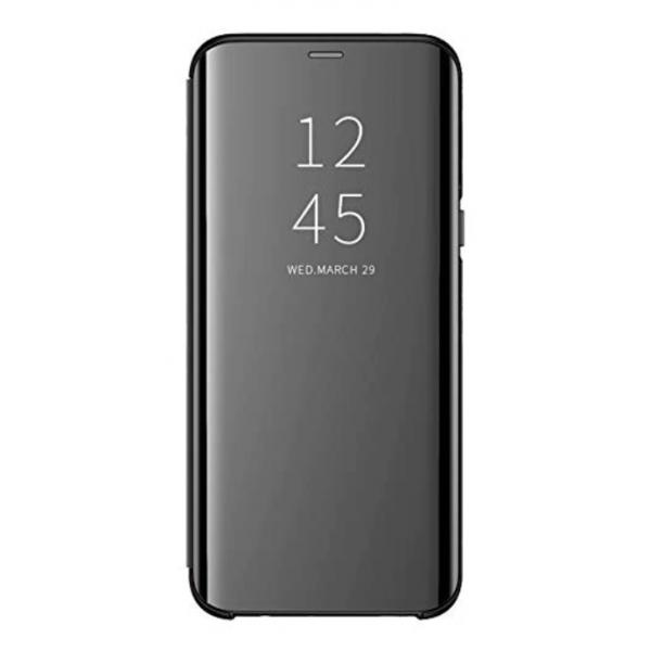 Husa Flip Cover Upzz Mirror Huawei Y6p ,negru imagine itelmobile.ro 2021