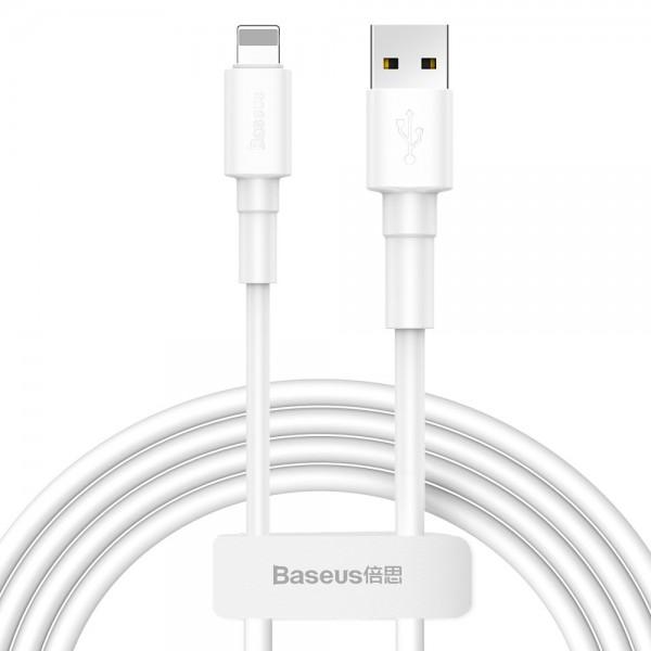 Cablu Date Premium Baseus Cu Mufa Lightning ,lungime 1m , Transfer 2.4a ,alb imagine itelmobile.ro 2021
