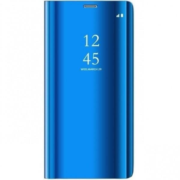 Husa Flip Cover Upzz Mirror Huawei P40 Lite E Albastru imagine itelmobile.ro 2021