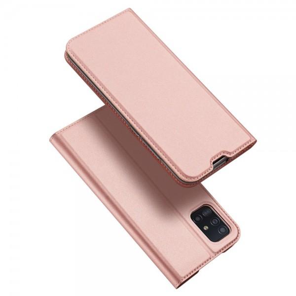 Husa Flip Cover Premium Duxducis Skinpro Samsung Galaxy A51, Rose Gold imagine itelmobile.ro 2021