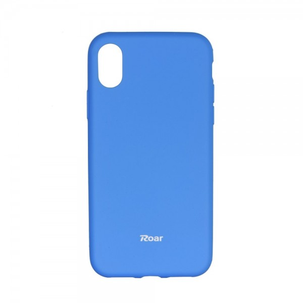 Husa Spate Roar Colorful Jelly iPhone X/xs , Silicon, Albastru Deschis imagine itelmobile.ro 2021