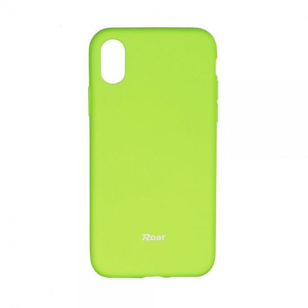Husa Spate Roar Colorful Jelly iPhone X/xs , Silicon, Verde Lime imagine itelmobile.ro 2021
