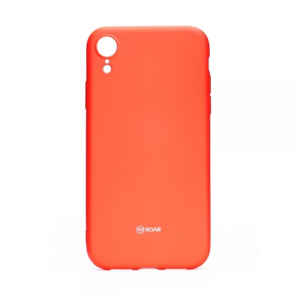 Husa Spate Roar Colorful Jelly iPhone Xr , Silicon, Roz Peach imagine itelmobile.ro 2021