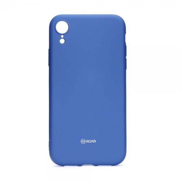 Husa Spate Roar Colorful Jelly iPhone Xr , Silicon, Albastru Navy imagine itelmobile.ro 2021