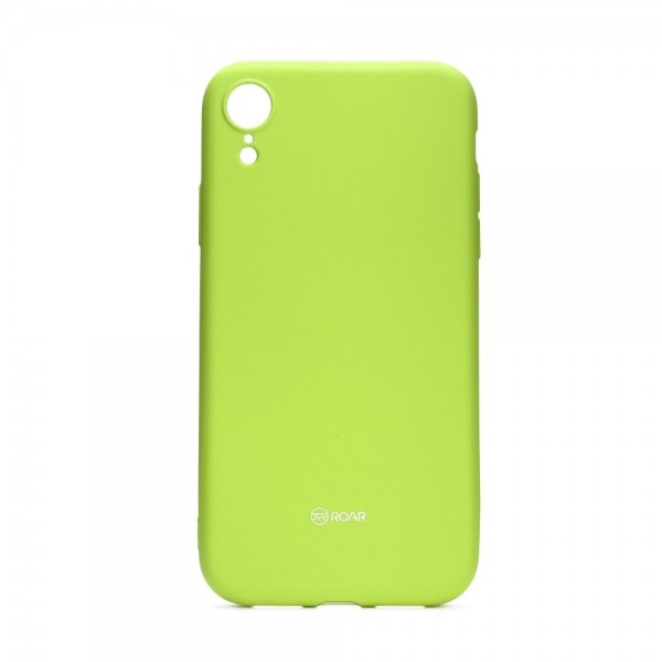Husa Spate Roar Colorful Jelly iPhone Xr , Silicon, Verde Lime imagine itelmobile.ro 2021