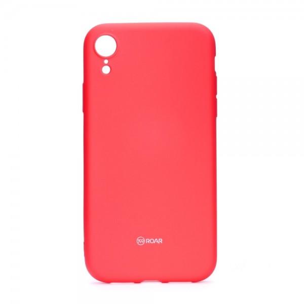 Husa Spate Roar Colorful Jelly iPhone Xr , Silicon, Hot Roz imagine itelmobile.ro 2021